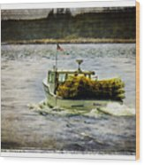 Lobster Boat 1f Wood Print