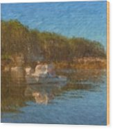 Lobster Boat Boothbay Harbor Wood Print