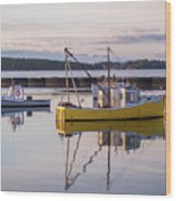 Lobster Boat Jonesport, Maine  Wood Print