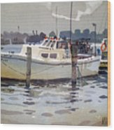 Lobster Boats In Shark River Wood Print