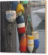 Lobster Buoy At Water Taxi Pier Wood Print