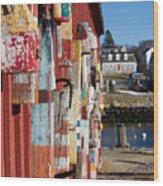 Lobster Buoy On Motif 1, Rockport, Ma Wood Print