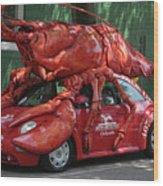 Lobster Car Wood Print