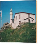 Lobster Cove Lighthouse Wood Print
