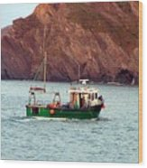 Lobster Fishing Boat Wood Print