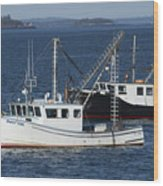 Lobster Fishing Boats Wood Print