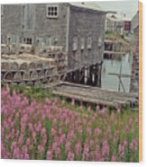 Lobster House Grand Manan Wood Print
