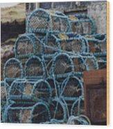 Lobster Pots Wood Print