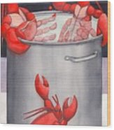 Lobster Spa Wood Print