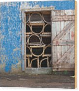 Lobster Trap Storage-1 Wood Print