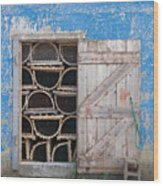 Lobster Trap Storage-3 Wood Print