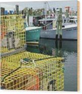 Lobster Traps In Galilee Wood Print