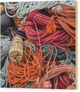 Lobstering Lines Wood Print