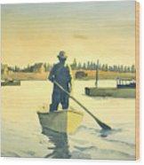 Lobsterman Homebound Wood Print