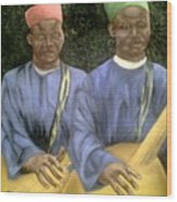 Local African Guitarist Wood Print