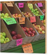 Local Apples For Sale Wood Print