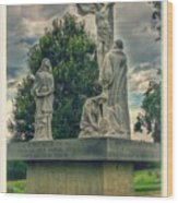 Local Cemetery Statue Wood Print