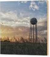 Local Water Tower  Wood Print