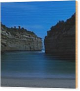 Loch Ard Gorge Under The Moonlight Wood Print