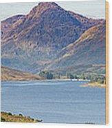Loch Arklet And The Arrochar Alps Wood Print