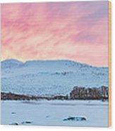 Loch Ba Panoramic Sunrise Wood Print