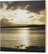 Loch Bracadale Sunset Wood Print