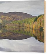 Loch Faskally Autumn Wood Print