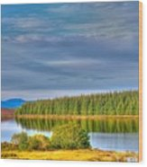 Loch Kinardochy Reflections Wood Print