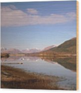 Loch Leven And Morvern Hills Winter2 Wood Print