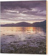 Loch Linnhe - The Last Rays Of The Sun. Wood Print