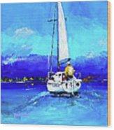 Loch Lomond Sail Wood Print