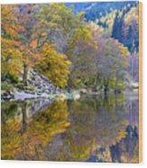 Loch Lubnaig In Autumn Wood Print