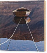 Loch Maree Boat Wood Print