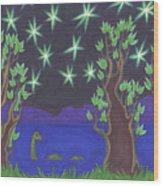 Loch Ness Night Wood Print