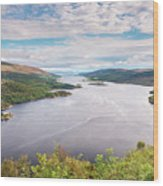 Loch Riddon And Isle Of Bute Wood Print