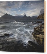 Loch Scavaig And The Cuillin Wood Print