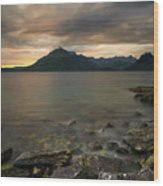 Loch Scavaig Stones Wood Print