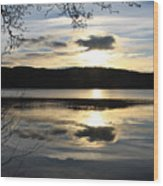 Loch Venacher Sunset Wood Print