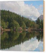 Lochan Glencoe Wood Print