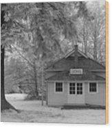 Lochiel School House Wood Print