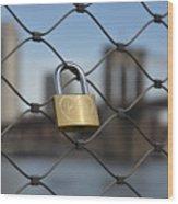 Lock And Bridge  Wood Print