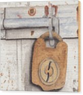 Lock And Latch Wood Print