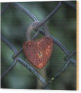 Lock Of Love Wood Print