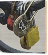 Lock With Rhinestones Wood Print