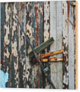 Locked Door Wood Print