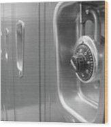 Locked Locker Wood Print