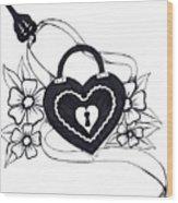 Locked Love Wood Print