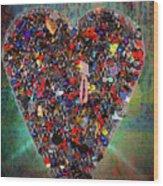 Locket Heart-4 Wood Print