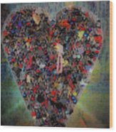 Locket Heart-6 Wood Print