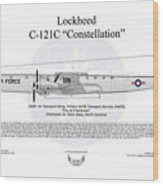 Lockheed C-121c Constellation Wood Print